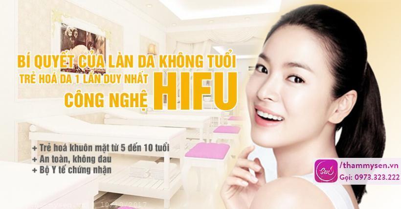 Trẻ hóa da mặt Hifu 2