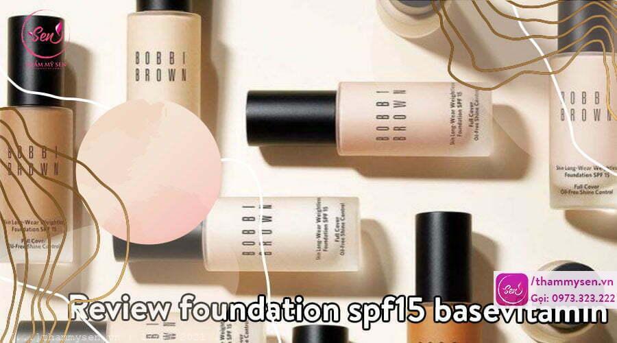 spf15 basevitamin, Review foundation spf15 basevitamin